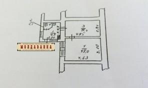 2-комнатная квартира на Пересыпи — 35 метров за 17 тысяч!